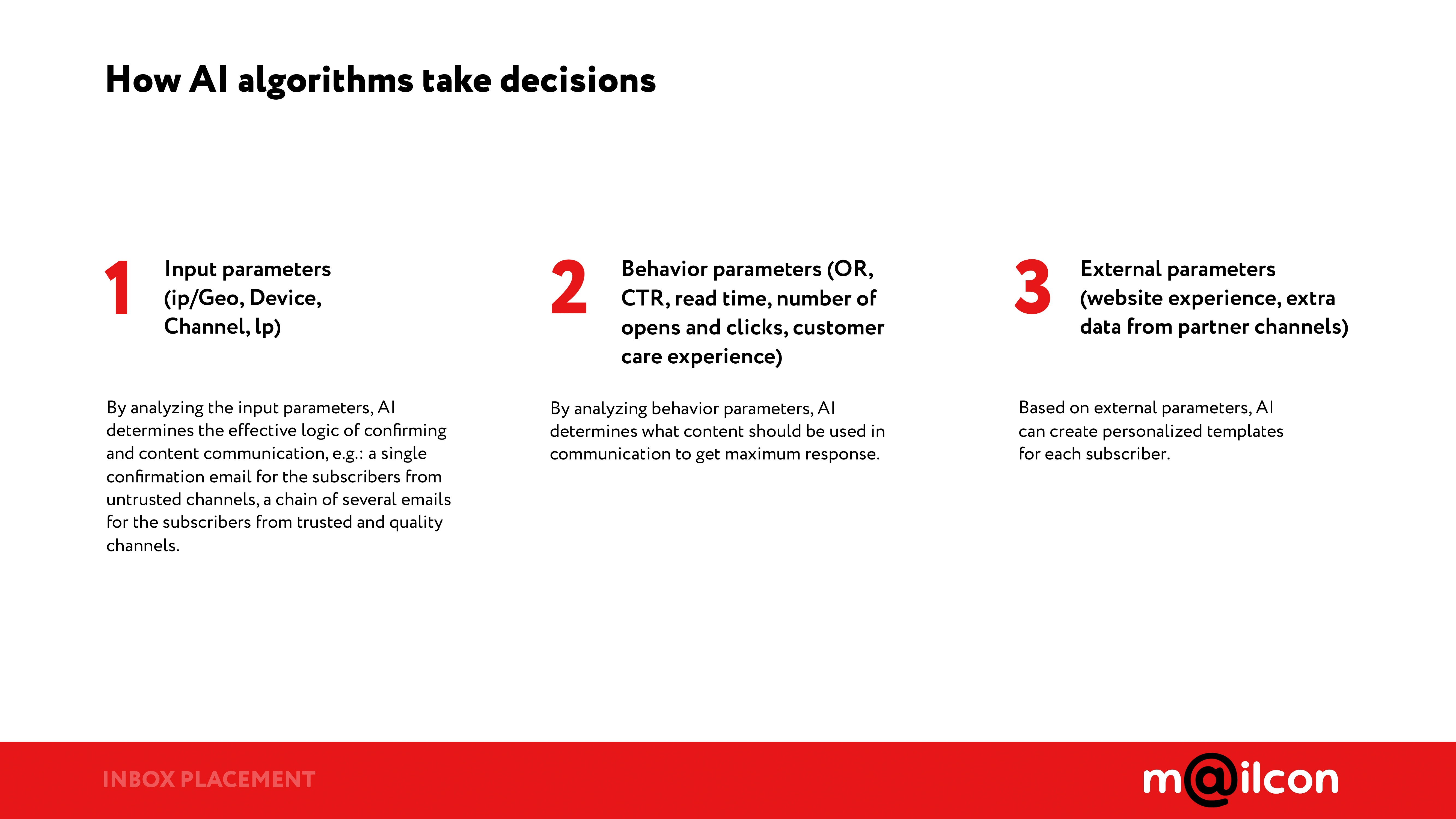 AI algorithms take decisions